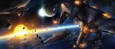 The Sith fleet engages Jedi Forces other Sluis Van  -  Battle of Sluis Van - Star Wars
