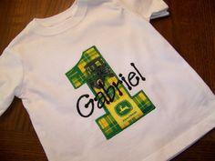 John Deere Birthday shirt - Personalized birthday shirt - John Deere - boys - short sleeve. $20.00, via Etsy.