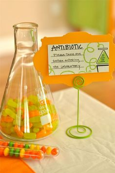 Mad Science Birthday Party from Captain's Blog...Wanted to do something like this for the 5th B-day. Maybe the next one.