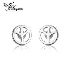 JewelryPalace Cnd Symbol 925 Sterling Silver Stud Earrings Fine Jewelry For Women Brand New Design Fashion Women Earrings Gift //Price: $19.99 & FREE Shipping //     #accessories #necklaces #pendants #earrings #rings #bracelets