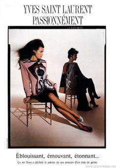 1988 - Yves Saint Laurent Passionnement - Yasmin Le Bon & Linda Evangelista in YSL Couture by Arthur Elgort for Vogue Paris