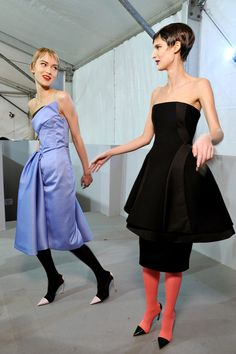 love the tights + bare shoulders (someone feed those models!!) ...raf simons for christian dior couture spring 2013