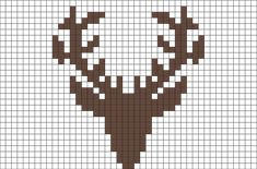 MINECRAFT PIXEL ART – One of the most convenient methods to obtain your imaginative juices flowing in Minecraft is pixel art. Pixel art makes use of various blocks in Minecraft to develop pic… Xmas Cross Stitch, Cross Stitch Charts, Cross Stitch Designs, Cross Stitching, Cross Stitch Embroidery, Cross Stitch Patterns, Crochet Deer, Tapestry Crochet, Crochet Chart