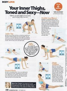 From the 'Yes, You Can!' blog! Trimming inner thighs exercises