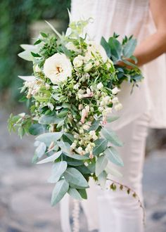 garden cascade bouquet -add either one orange lily or yellow tulip for mom