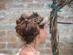 Hair By Kristy Foster - Hernandez Wedding, Blumen Gardens, August, Sycamore IL