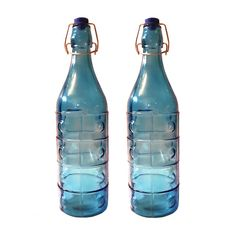 Cynopal Designer Molded Classic Design Glass Freeze Water Bottle (Set of 2)