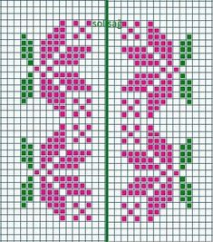 Ribbon Flowers Embroidery Ideas: Learn Stitching for Beginners - frieda Simple Cross Stitch, Cross Stitch Borders, Cross Stitch Flowers, Cross Stitch Designs, Cross Stitching, Cross Stitch Embroidery, Embroidery Patterns, Cross Stitch Patterns, Fair Isle Knitting Patterns