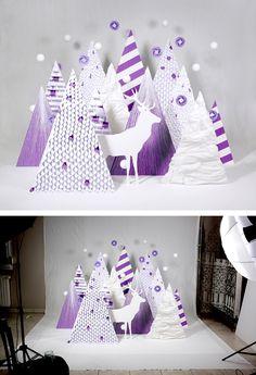 25 illustrations graphiques et originales autour du Cerf - graphisme http://www.zimandzou.fr/70282/466718/gallery/purple-wishes