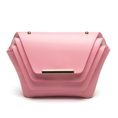 39a6c85e6 Layer Clutch in Pink, Designed and Handmade in USA with Fine Italian Leather