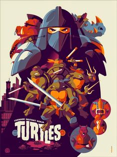 Teenage Mutant Ninja Turtles Screen Print by Tom Whalen
