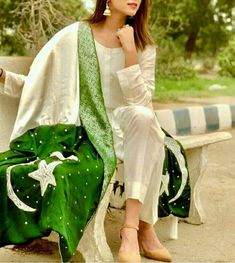 Dpz for girls Pakistan Day, Pakistan Images, Kashmir Pakistan, Islamabad Pakistan, Pakistan Independence Day, Happy Independence, Flag Dress, Patriotic Dresses, Dps For Girls