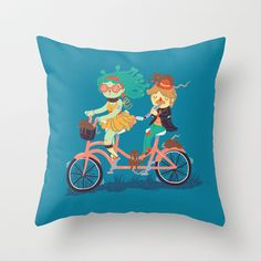 Medusa & The Pied Piper Throw Pillow by Polite Yet Peculiar - $20.00