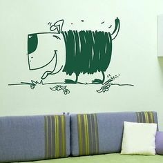 Cute cartoon Dog kitchen vinyl wall art sticker bedroom mural decal stencil x40