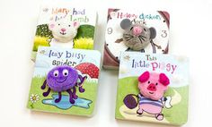 Groupon - Nursery Rhyme Finger Puppet 4-Book Bundle in Online Deal. Groupon deal price: $13.99