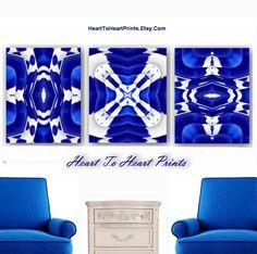 Cobalt Blue Wall Art Decor Home