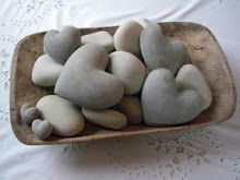 I have a few heart shaped rocks I've found over the years. I should put them in something.