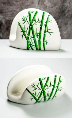 Ceramic Napkin Holder, Sponge Holder, Easter Decor Hostess Gift, Modern Farmhouse Kitchen Table Decor