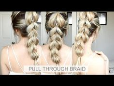 Thumbs up if you enjoyed this tutorial, thank you. :) Today's hair tutorial is this EASY Pull-Through Braid Hair Tutorial. 5 Minute Hairstyles, Diy Hairstyles, Pretty Hairstyles, Summer Hairstyles, Medium Hair Styles, Short Hair Styles, Faux Braids, Braids Easy, Easy Updo
