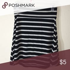 Striped skirt Only worn once! Made of 64% polyester, 30% rayon, 6% spandex. Size is XS, but I wore it as a small. Make me an offer OR bundle at least 3 items for savings!! :) Mossimo Supply Co. Skirts