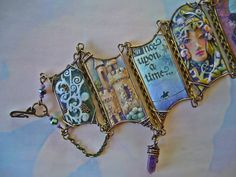 Collage Cuff entitled Castle Quest by CoCoJoJoOriginals on Etsy