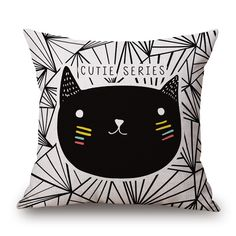 Cute Cat Printed Pillow Covers #cat #meow #cats #cat lovers