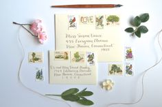 Rustic Vintage Wedding Love Stamp Suite for by EdelweissPost