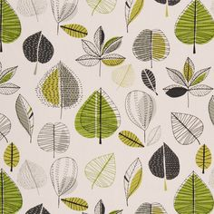 Maple Curtain Fabric Lime | Cheap Prints & Checks Curtain Fabrics | UK Delivery