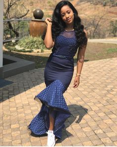 shweshwe skirts 2019 for African women – shweshwe - NALOADED Traditional Dresses Designs, African Traditional Wedding, African Traditional Dresses, Traditional Wedding Dresses, Traditional Outfits, South African Dresses, African Fashion Dresses, African Wedding Attire, African Attire