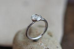 Solitaire rose cut diamond ring in delicate bezel setting.  Inquiries: info@liloveve.com