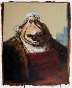 Caricatura de Rembrandt.