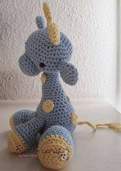 Crochet giraffe - free pattern (spanish)