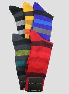 Eleganter Farbakzent: Dezent gestreifte Socken in kräftigen Farben. | Falke