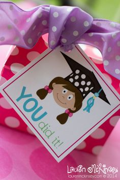 Graduation free printable gift tag free printable bright and gift little girl graduate printable collection gift tags negle Gallery