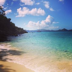 Salomon Beach, St. John, USVI #beach #STJ Exotic Beaches, Tropical Beaches, Saint John Island, Goin Coastal, Places To Travel, Places To Visit, Johns Island, Ocean Scenes, Us Virgin Islands