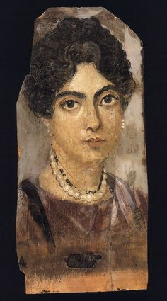 Coffin portrait from El Fayum, ca. 160 ACE. (Source: Staatliche Museen, Berlin.)