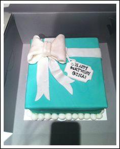 tiffany style birthday present cake