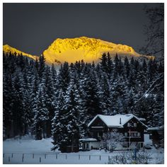 """""""Let there be light"""" - Arosa, Switzerland"""