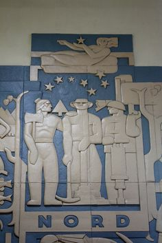 Monumental bas-relief friezes by Charles Comfort, Central Station