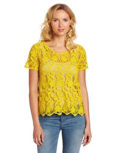 Joie Women's Devine Crochet Lace Top, Curry, Large Joie, http://www.amazon.com/dp/B00C1C2B02/ref=cm_sw_r_pi_dp_ZVdBtb12TZ8Q6YH0