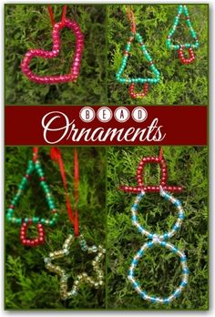 Lots of pretty bead ornaments for the kids to make