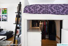 garderob,våningssäng,steghylla