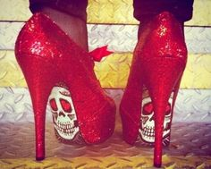 we re also loving these red glitter heels that we found on pinterest