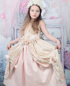 Gorgeous Silk dress for communion, or flower girls, we can make it in ivory and White for your flower girls you can choose your color combination handcrafted in our studio. Fully lined with an added petticoat for fullness. Girls Dresses, Flower Girl Dresses, Communion Dresses, Silk Dress, Color Combinations, Victorian, Wedding Dresses, Fashion, Dresses Of Girls