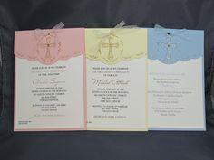 Communion Invitations - Baptism Invitations - Religious Events - Christening. $5.50, via Etsy.