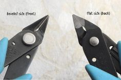how flush cutters work - basic jewelry making tools  #jewelrymaking #tools