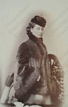Princess Alice, also Grand Duchess of Hesse (1843-1878), daughter of Queen Victoria and Prince Albert.