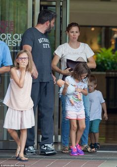 Co-parenting: Ben Affleck and estranged wife Jennifer Garner enjoyed quality time with the. Ben Affleck, Jennifer Garner, Co Parenting, Three Kids, Great Friends, Quality Time, Put On, Famous People, Couple Photos