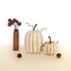 Set of 2 Felted Miniatures Rustic Pumpkin Decor Harvest Table Autumn Halloween Thanksgiving Made To Order by FoxtailCreekStudio on Etsy https://www.etsy.com/listing/449670358/set-of-2-felted-miniatures-rustic