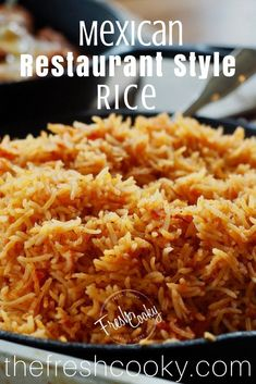 Restaurant Style Rice, but made at home! Lightly seasoned Mexican rice is the perfect accompaniment to any Mexican dish!Mexican Restaurant Style Rice, but made at home! Lightly seasoned Mexican rice is the perfect accompaniment to any Mexican dish! Authentic Mexican Recipes, Mexican Rice Recipes, Rice Recipes For Dinner, Mexican Dishes, Mexican Rice Recipe Restaurant Style, Mexican Rice Recipe With Cooked Rice, Easy Spanish Rice Recipe, Crockpot Spanish Rice, Gastronomia